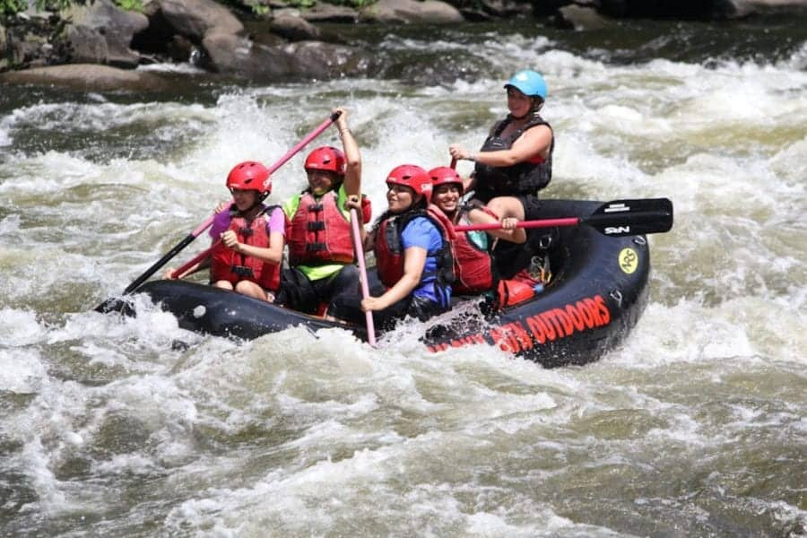 An extreme rafting trip with Smoky Mountain Outdoors.