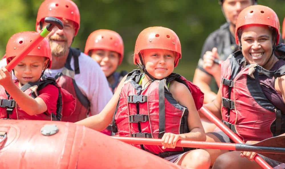 family white water rafting in the smoky mountains