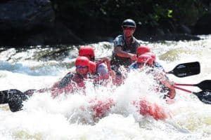 Extreme white water rafting near Gatlinburg TN.