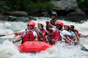 family rafting near gatlinburg