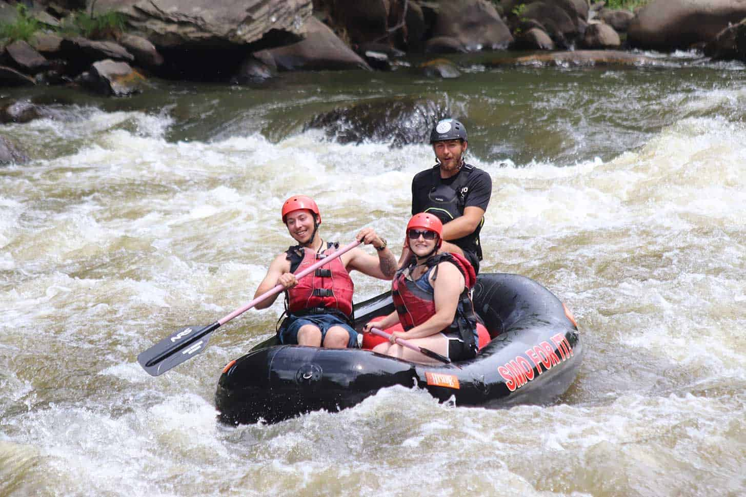 white water rafting in the smoky mountains