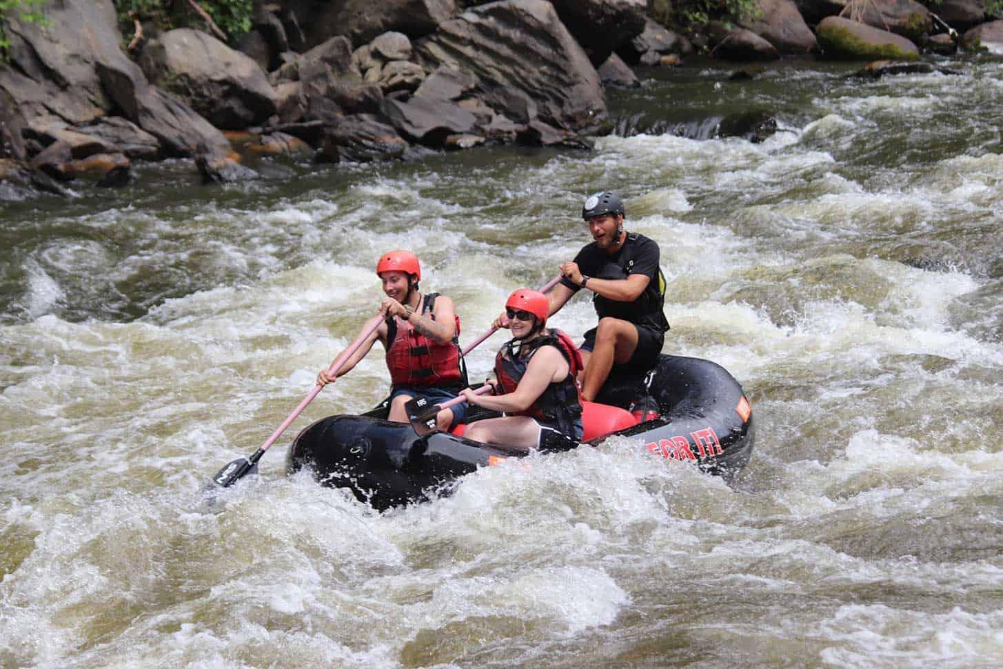 extreme rafting trip